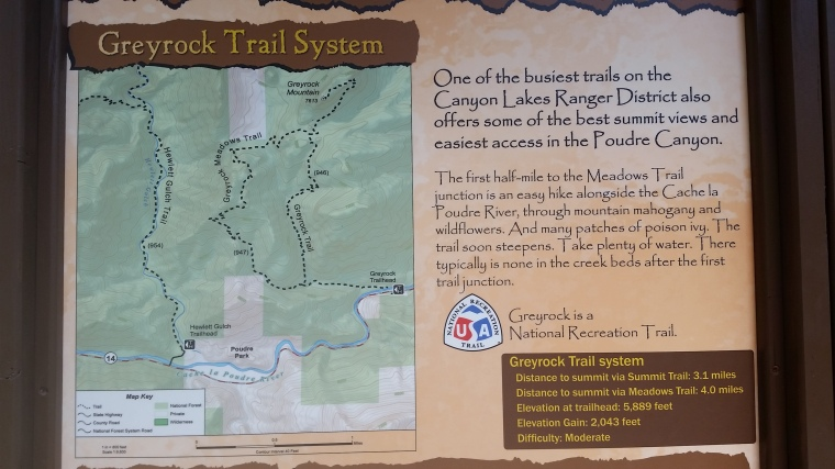 Grey Rock Trail Fort Collins trail map