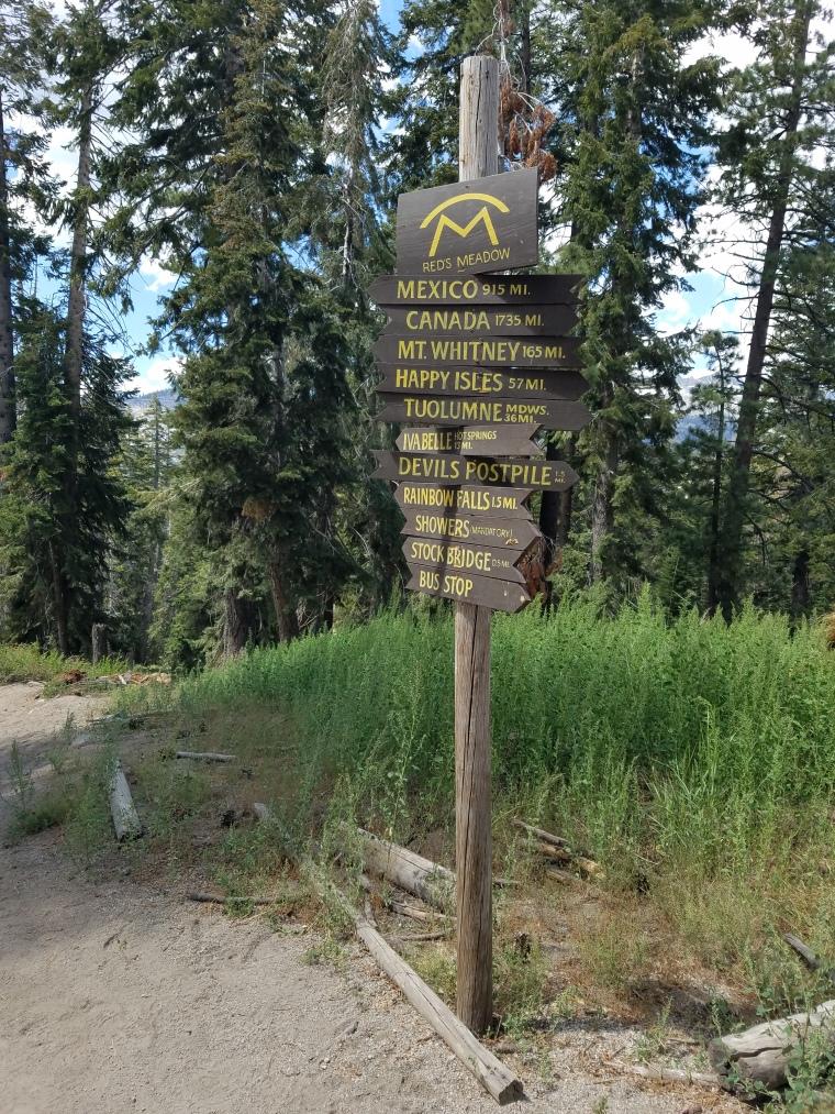 John Muir Trail Red's Meadow
