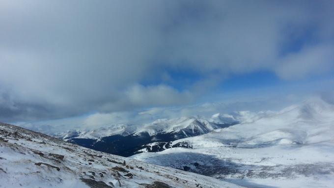 Colorado 14er winter