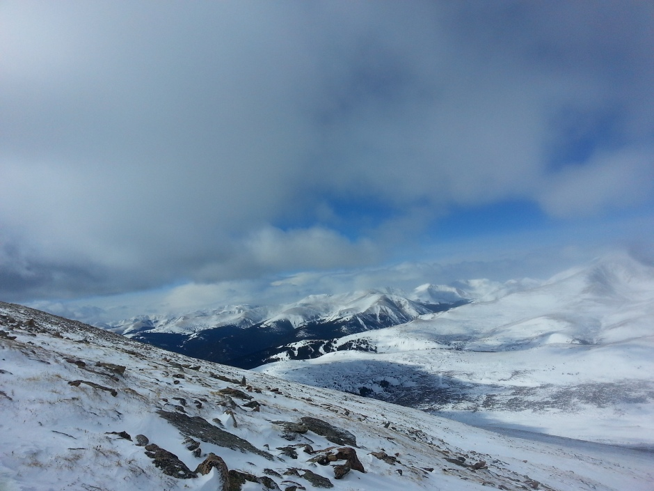 Colorado 14er winter
